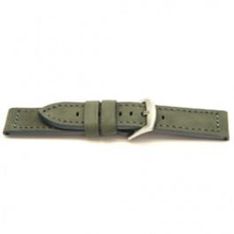 Klockarmband äkta Läder grått 24mm I814