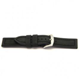 Klockarmband Universell H103 Läder Svart 22mm