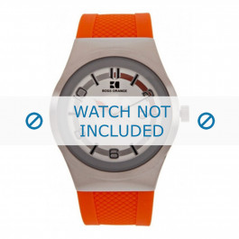Klockarmband Hugo Boss HB-155-1-14-2390 / HO1512693 Silikon Apelsin 20mm