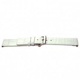 Klockarmband Universell I520 Krokodil läder Vit 24mm