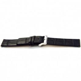 Klockarmband Universell F145 Läder Svart 18mm