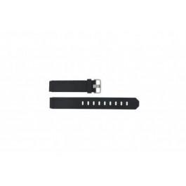 Klockarmband Jacob Jensen 712 / 732 / 742 / 743 / 640 / 641 / 660 / 662 / 680 / 681 Gummi Svart 17mm
