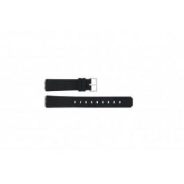 Klockarmband Jacob Jensen 100 / 130 / 131 / 132 / 133 square Gummi Svart 15mm