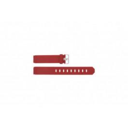 Klockarmband Jacob Jensen 700 / 751 / 756 / 761 / 766 Gummi Röd 17mm