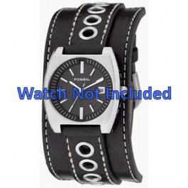 Klockarmband Fossil JR8205 Läder Svart 16mm