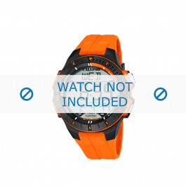Klockarmband Calypso K5607-1 Gummi Apelsin 20mm