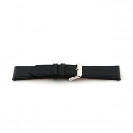 Klockarmband Universell H010-XL Läder Svart 22mm