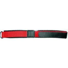 Klockarmband Universell KLITTENBAND 412R Kardborreband Röd 20mm