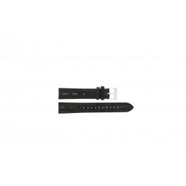 Lorus klockarmband RR033X Läder Svart 18mm