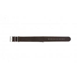 Klockarmband NATO UH15 Läder Brun 22mm