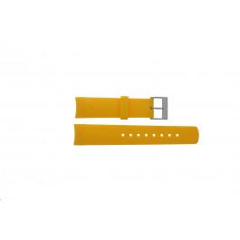 Klockarmband Nautica 31507G Gummi Gul 22mm