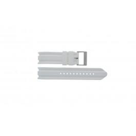 Klockarmband Nautica A14608G / A16603G Gummi Vit 22mm
