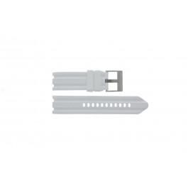 Klockarmband Nautica A15567G Gummi Vit 24mm