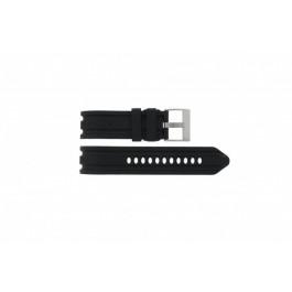 Klockarmband Nautica A15564G / A20040G Gummi Svart 24mm