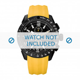 Klockarmband Nautica A18599G Gummi Gul 24mm