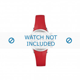 Nautica klockarmband N13536L  Gummi / plast Röd