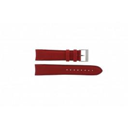 Nautica klockarmband A24515G / N16532 Läder Rött 22mm