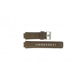 Klockarmband Timex P2N721 Läder Brun 16mm