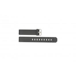 Klockarmband Jacob Jensen 600 / 800 / 601 / 602 / 702 Gummi Svart 19mm