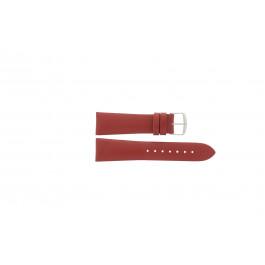 Klockarmband Davis B0194 / 24 Läder Röd 24mm