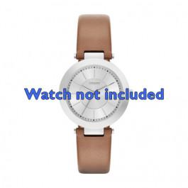 Klockarmband DKNY NY2293 Läder Konjak 10mm
