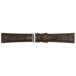 Klockarmband i läder mörkbrunt 18mm PVK-497