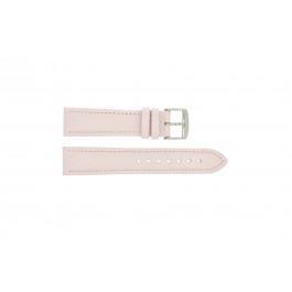 Klockarmband Universell 283.14 Läder Rosa 24mm
