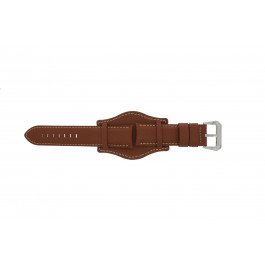 Klockarmband Universell 386.8 Läder Brun 22mm