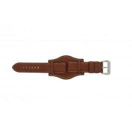 Klockarmband Universell 386.08.20 Läder Brun 20mm