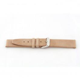 Klockarmband i äkta läder Beige 24mm G33