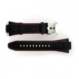 Klockarmband Seiko 7T62-0ED / SNA633P1 Läder Svart 15mm