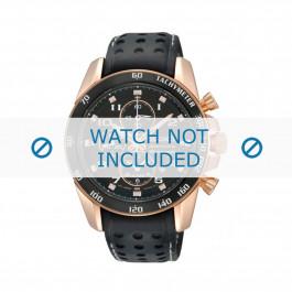 Klockarmband Seiko 7T62-0KV0 / SNAE80P1 / L01M015P0 Läder Svart 21mm