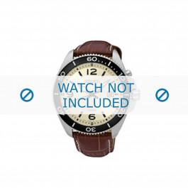 Klockarmband 5M82-0AY0 / SKA749P1 Krokodil läder Brun 22mm