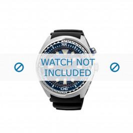Klockarmband Seiko SUN065P1 / 5M85 0AB0 / R01Y011J0 Gummi Svart 24mm