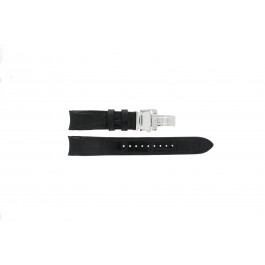 Klockarmband Seiko 7D48-0AA0 / 7T62-0FF0 / SNP005P1 / 4KK6JZ / 34H6JZ Läder Svart 20mm