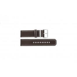 Klockarmband Seiko 7T62-0HM0 / SNAB71P1 / 4LP6JB Läder Brun 24mm