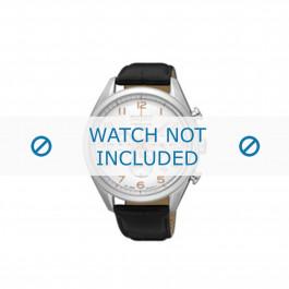 Seiko klockarmband SSB227P1 / 8T63 00C0 Läder Svart 20mm + sömmar svart