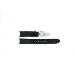 Seiko klockarmband SNA741P2 / 7T62-0GE0 Läder Svart 22mm + sömmar svart