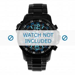 Klockarmband Seiko SSC079P1 Stål Svart 21mm