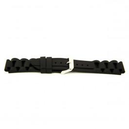 Klockarmband Universell XI12 Silikon Svart 24mm