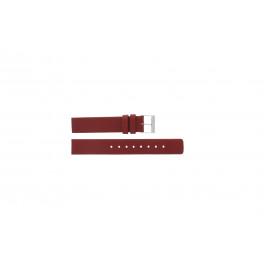 Skagen klockarmband 224SSLR Läder Röd 16mm