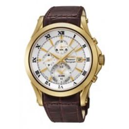 Klockarmband Seiko 7T62-0JW0 / SNAF22P1 / 4A071KL Läder Brun 21mm