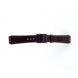 Klockarmband Swatch SC04.02 Läder Brun 17mm