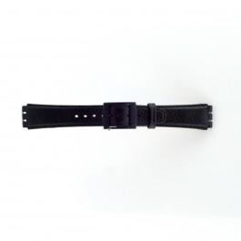 Klockarmband Swatch (alt.) SC04.01 Läder Svart 17mm