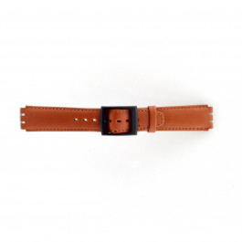 Klockarmband Swatch SC11.03 Läder Brun 17mm