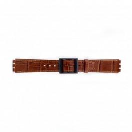 Klockarmband Swatch (alt.) SC16.03 Läder Brun 16mm