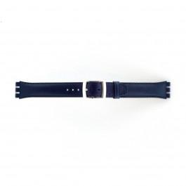 Klockarmband Swatch (alt.) 51643.06.MB Läder Blå 19mm