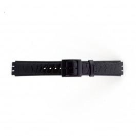 Klockarmband Swatch (alt.) SC10.01 Läder Svart 17mm