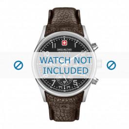 Klockarmband Swiss Military Hanowa 06-4278.04.007 / 06-4278.04.001.05 / STEEL BUCKLE LA-62 Läder Brun 24mm