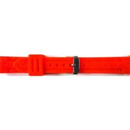Klockarmband Universell 253 Silikon Röd 24mm